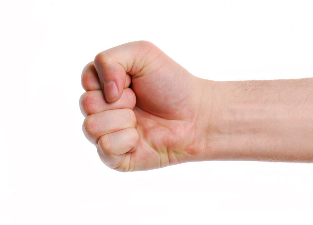 Man hand. Fist.